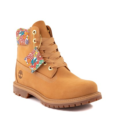 """Alternate view of Womens Timberland x Liberty 6"""" Premium Boot - Wheat / Floral"""