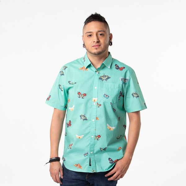 Mens Vans Metamorphosis Button Up Shirt - Dust Jade