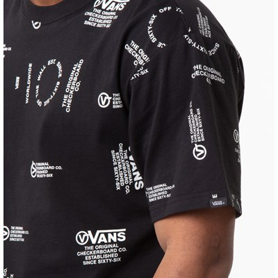 Alternate view of Mens Vans Distortion Tee - Black