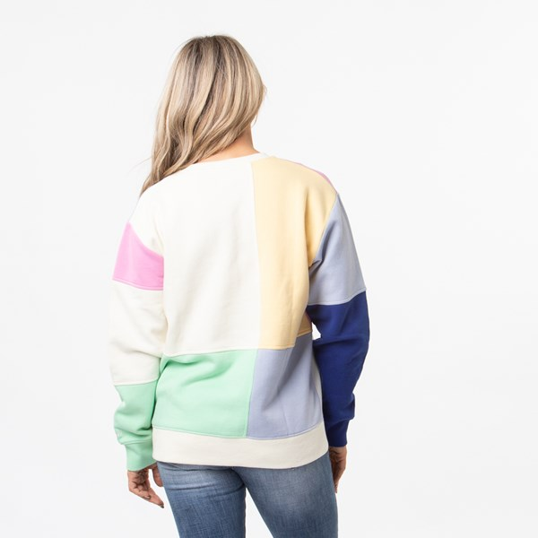alternate view Womens Vans Patchy Crew Sweatshirt - MultiALT1