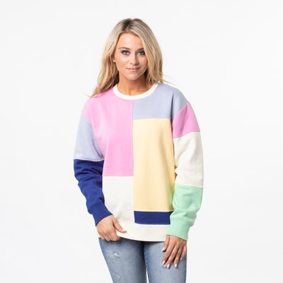 Main view of Womens Vans Patchy Crew Sweatshirt - Multi