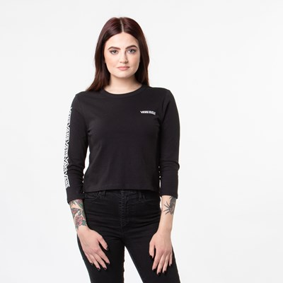 Main view of Womens Vans Fair Well Cropped Tee - Black