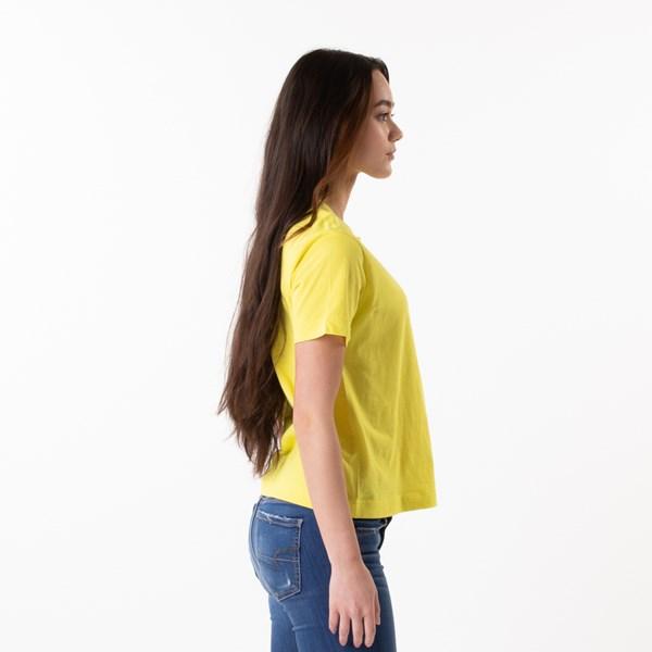 alternate view Womens Vans Turvy Boxy Tee - Lemon TonicALT3