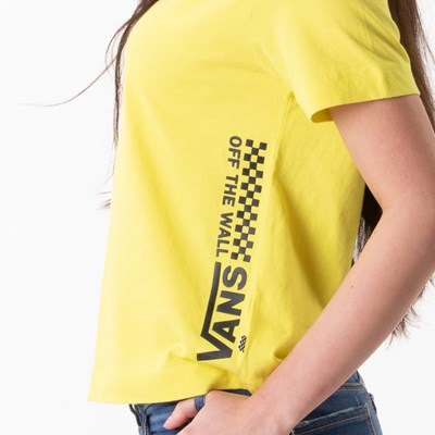 Alternate view of Womens Vans Turvy Boxy Tee - Lemon Tonic