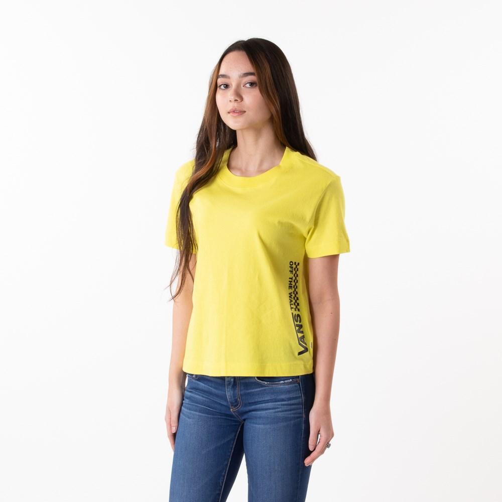 Womens Vans Turvy Boxy Tee - Lemon Tonic