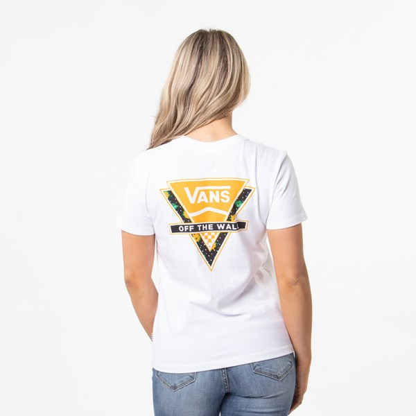 Womens Vans Polka Ditsy Triangle Tee - White