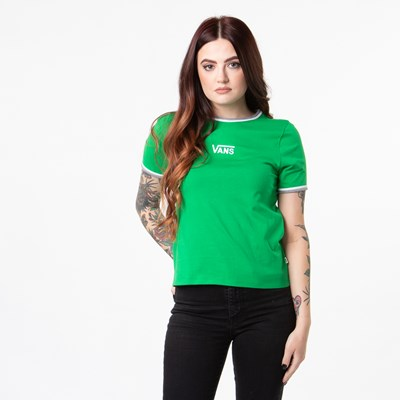 Main view of Womens Vans Taffrail Ringer Tee - Fern Green