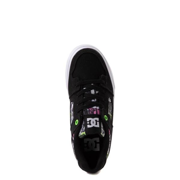 alternate view DC Pure Elastic TX SE Skate Shoe - Little Kid / Big Kid - Black / MultiALT4B