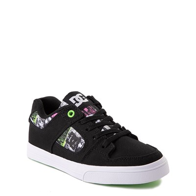 Alternate view of DC Pure Elastic TX SE Skate Shoe - Little Kid / Big Kid - Black / Multi