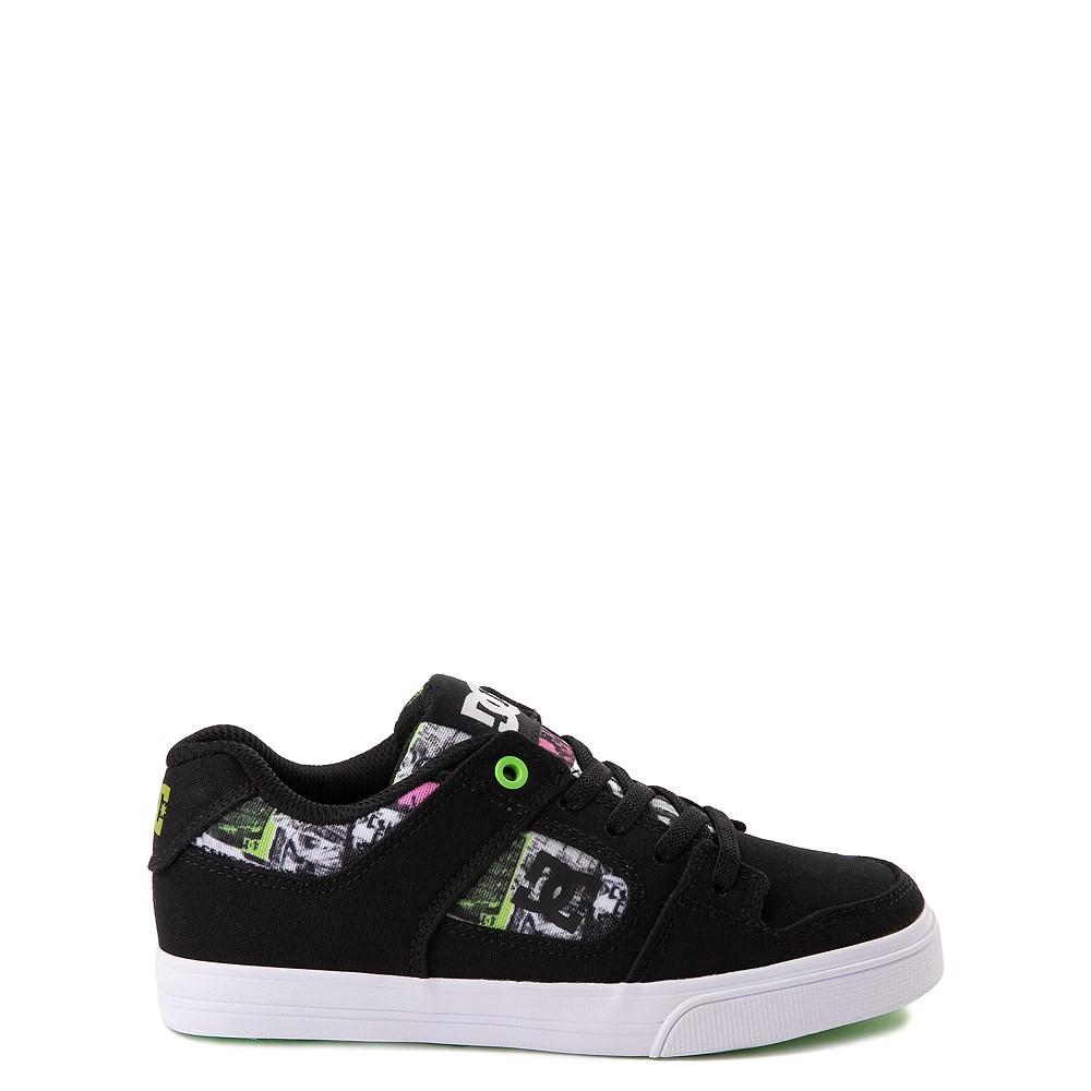 DC Pure Elastic TX SE Skate Shoe - Little Kid / Big Kid - Black / Multi
