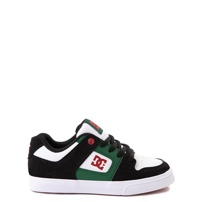 Main view of DC Pure Skate Shoe - Little Kid / Big Kid - Black / White / Green