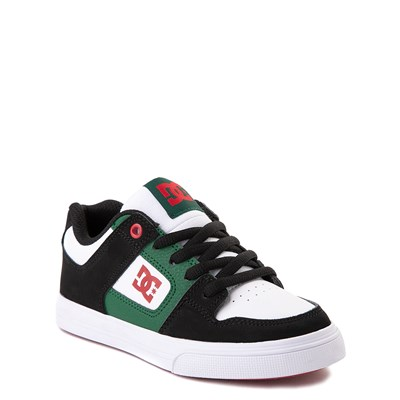 Alternate view of DC Pure Skate Shoe - Little Kid / Big Kid - Black / White / Green