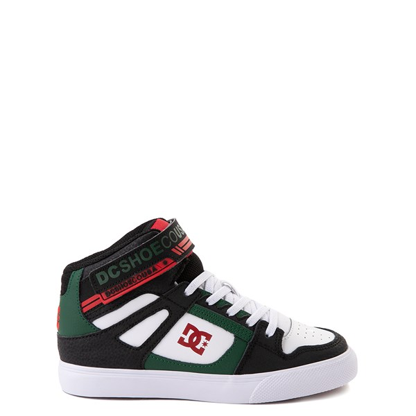 DC Pure Hi EV Skate Shoe - Little Kid / Big Kid - Black / White / Green