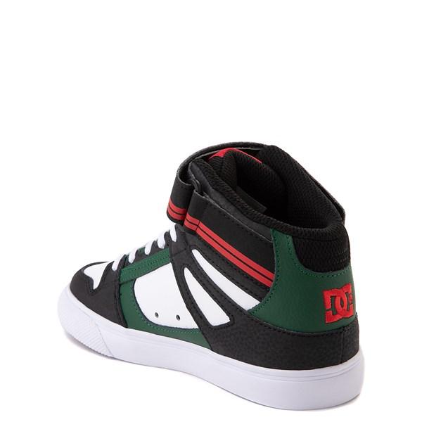 alternate view DC Pure Hi EV Skate Shoe - Little Kid / Big Kid - Black / White / GreenALT2