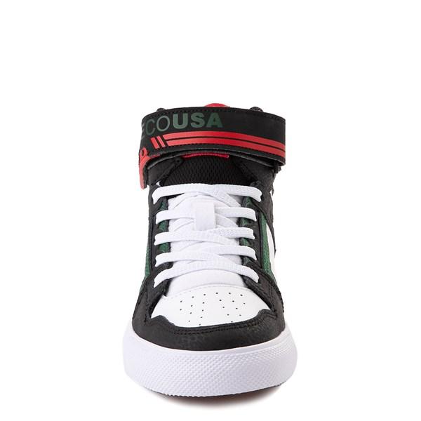 alternate view DC Pure Hi EV Skate Shoe - Little Kid / Big Kid - Black / White / GreenALT4
