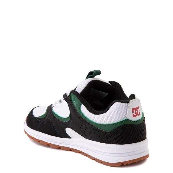 alternate view DC Kalis Lite Skate Shoe - Little Kid / Big Kid - Black / White / GreenALT2