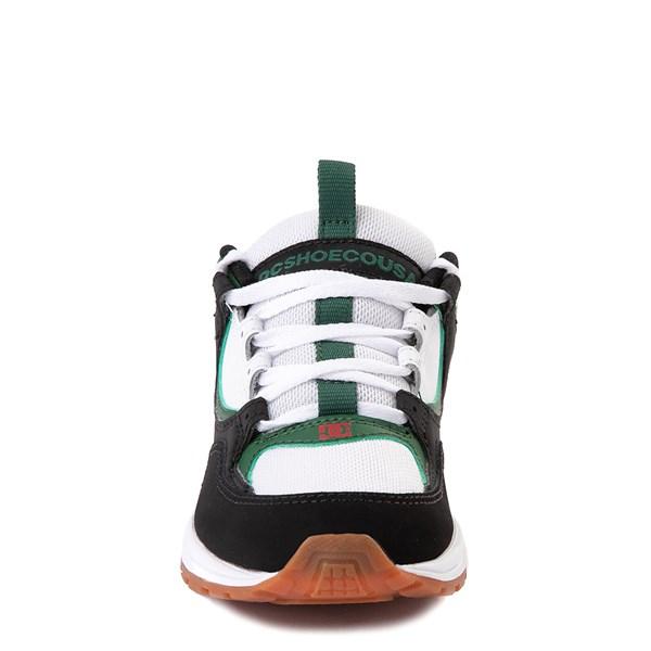 alternate view DC Kalis Lite Skate Shoe - Little Kid / Big Kid - Black / White / GreenALT4