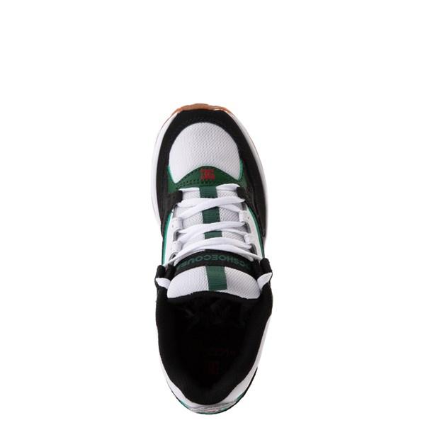 alternate view DC Kalis Lite Skate Shoe - Little Kid / Big Kid - Black / White / GreenALT4b