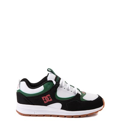 Main view of DC Kalis Lite Skate Shoe - Little Kid / Big Kid - Black / White / Green