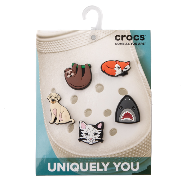 alternate view Crocs Jibbitz™ Animal Lover Shoe Charms 5 Pack - MulticolorALT2
