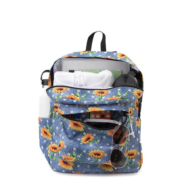 alternate view JanSport Superbreak Sunflower Backpack - BlueALT1