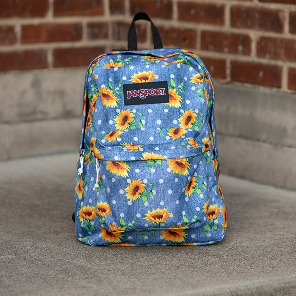 alternate view JanSport Superbreak Sunflower Backpack - BlueALT1BB
