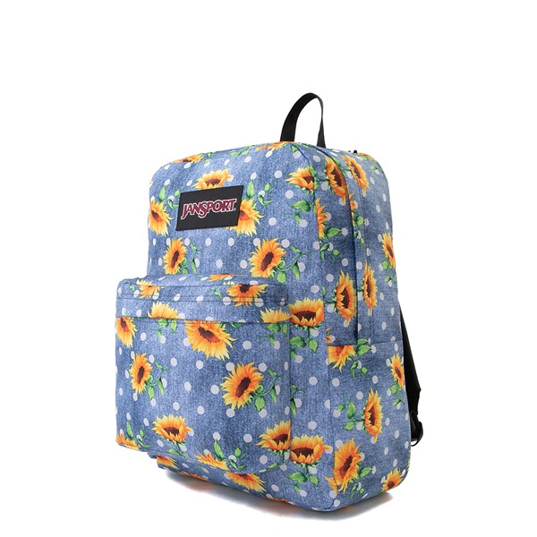 alternate view JanSport Superbreak Sunflower Backpack - BlueALT4