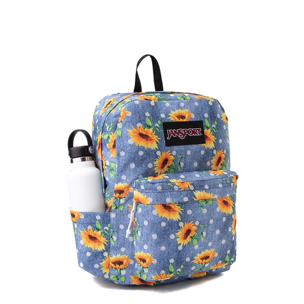 alternate view JanSport Superbreak Sunflower Backpack - BlueALT4B
