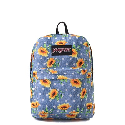 Main view of JanSport Superbreak Sunflower Backpack - Blue