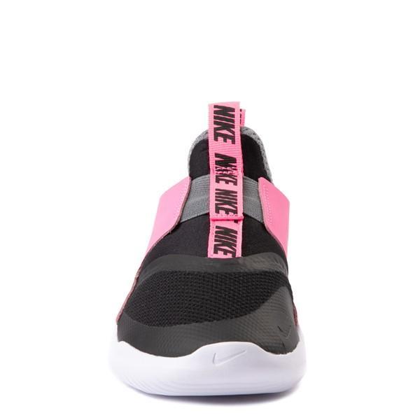 alternate view Nike Flex Runner Slip On Athletic Shoe - Little Kid - Pink / BlackALT4