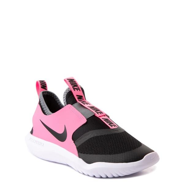 alternate view Nike Flex Runner Slip On Athletic Shoe - Little Kid - Pink / BlackALT5