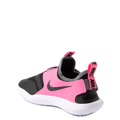 Alternate view of Nike Flex Runner Slip On Athletic Shoe - Little Kid - Pink / Black