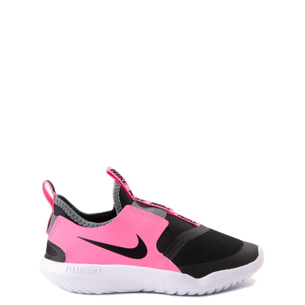 Nike Flex Runner Slip On Athletic Shoe - Little Kid - Pink / Black