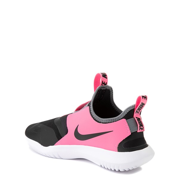 alternate view Nike Flex Runner Slip On Athletic Shoe - Big Kid - Pink / BlackALT1