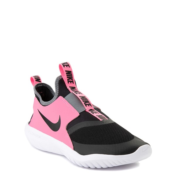 alternate view Nike Flex Runner Slip On Athletic Shoe - Big Kid - Pink / BlackALT5