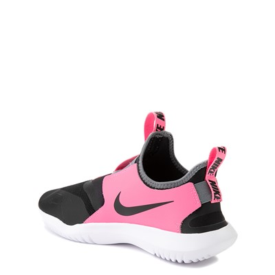 Alternate view of Nike Flex Runner Slip On Athletic Shoe - Big Kid - Pink / Black