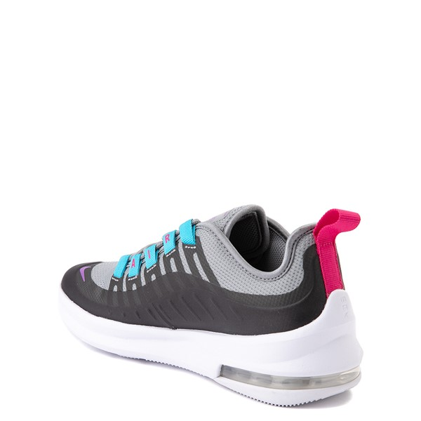 alternate view Nike Air Max Axis Athletic Shoe - Little Kid - Gray / PurpleALT1