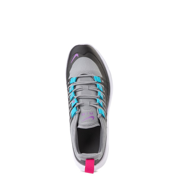 alternate view Nike Air Max Axis Athletic Shoe - Little Kid - Gray / PurpleALT2
