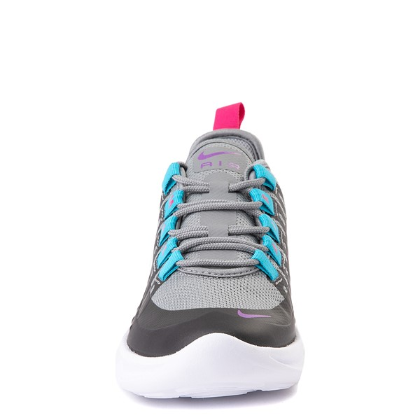alternate view Nike Air Max Axis Athletic Shoe - Little Kid - Gray / PurpleALT4