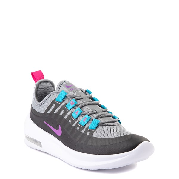 alternate view Nike Air Max Axis Athletic Shoe - Little Kid - Gray / PurpleALT5