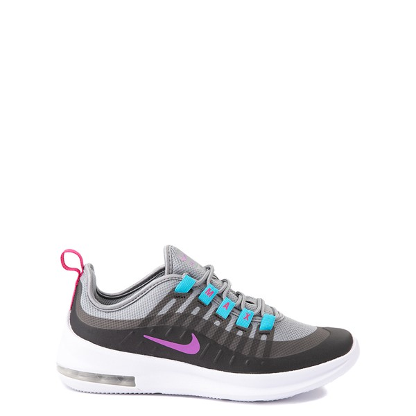 Main view of Nike Air Max Axis Athletic Shoe - Big Kid - Gray / Purple / Turquoise