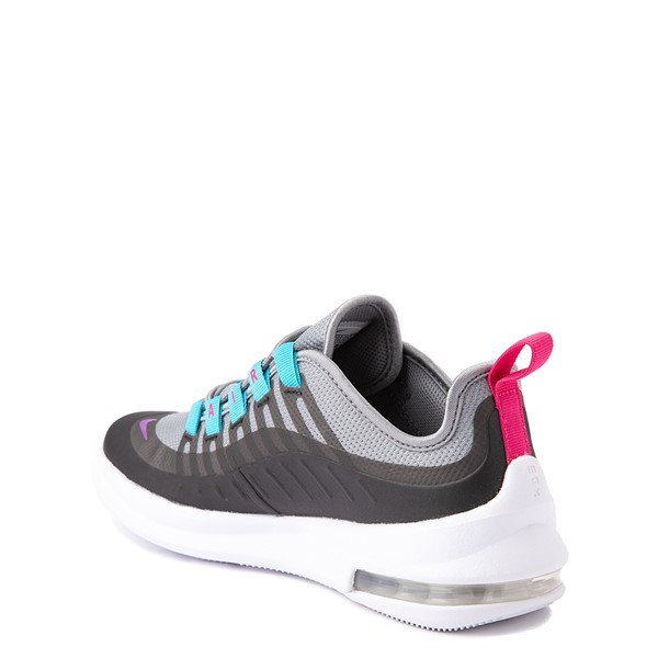 alternate view Nike Air Max Axis Athletic Shoe - Big Kid - Gray / Purple / TurquoiseALT1
