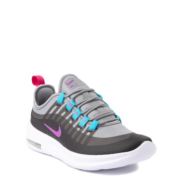 alternate view Nike Air Max Axis Athletic Shoe - Big Kid - Gray / Purple / TurquoiseALT5