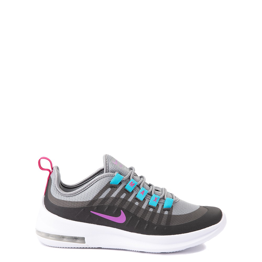 Nike Air Max Axis Athletic Shoe - Big Kid - Gray / Purple / Turquoise
