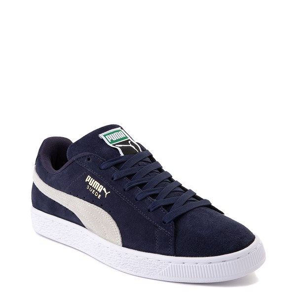 Alternate view of Mens Puma Suede Athletic Shoe - Peacoat Blue