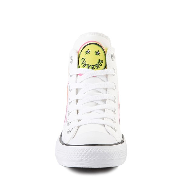 alternate view Converse Chuck Taylor All Star Hi Airbrush Sneaker - White / NeonALT4