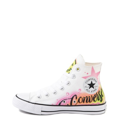 Alternate view of Converse Chuck Taylor All Star Hi Airbrush Sneaker - White / Neon
