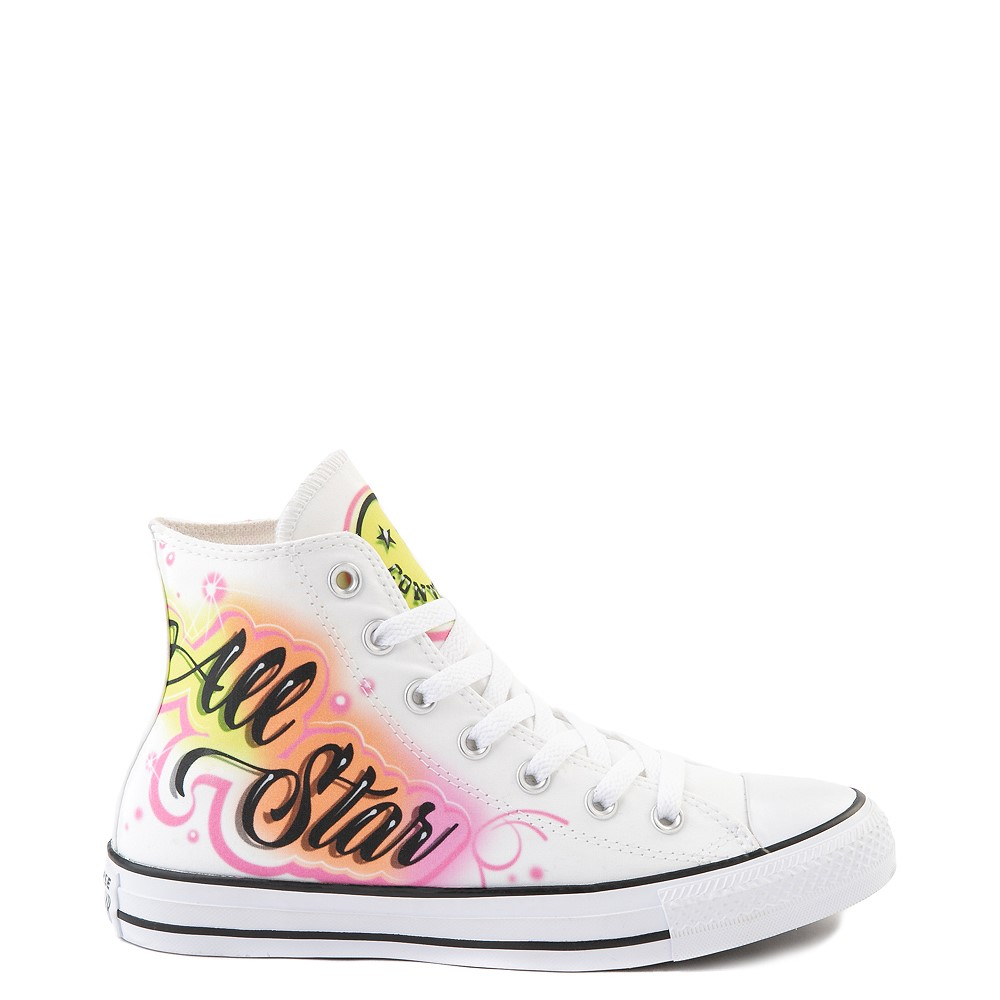 Converse Chuck Taylor All Star Hi Airbrush Sneaker - White / Neon