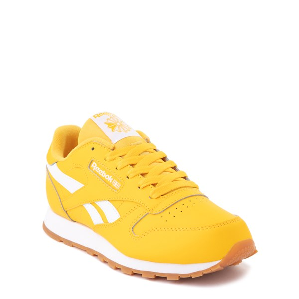 alternate view Reebok Classic Athletic Shoe - Big Kid - Toxic YellowALT1