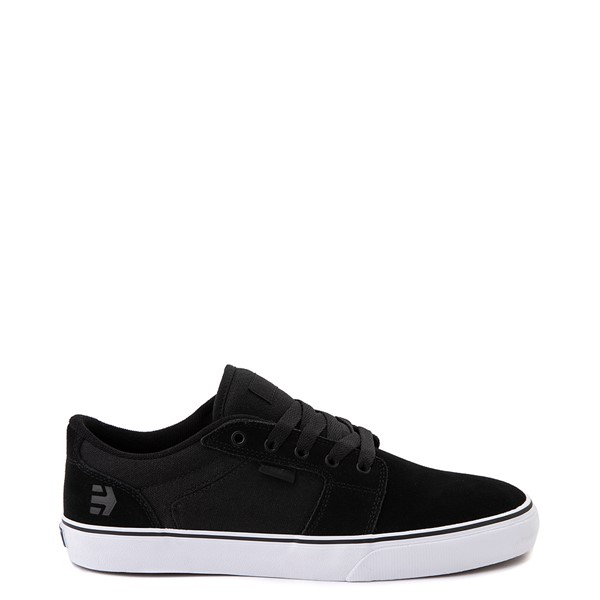 Main view of Mens etnies Barge LS Skate Shoe - Black / White
